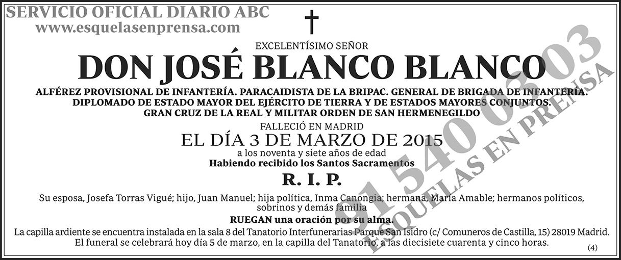 José Blanco Blanco